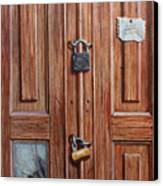 The Message Door Canvas Print