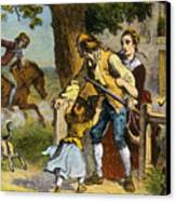 The Midnight Ride Of Paul Revere 1775 Canvas Print by Photo Researchers