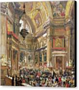The Miracle Of The Liquefaction Of The Blood Of Saint Januarius Canvas Print by Giacinto Gigante