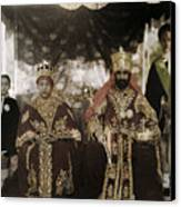 The Monarchs Haile Selassie The First Canvas Print by W. Robert Moore
