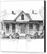 The Moore House Canvas Print by Barney Hedrick
