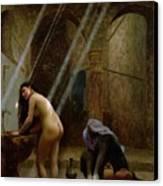 The Moorish Bath Canvas Print by Jean Leon Gerome