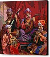The Musicians Of Hajji Baba Canvas Print by Eikoni Images