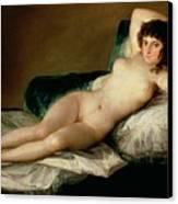 The Naked Maja Canvas Print by Goya