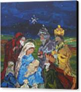 The Nativity Canvas Print by Reina Resto