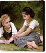 The Nut Gatherers Canvas Print by William-Adolphe Bouguereau
