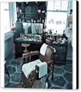 The Old American Barbershop Canvas Print