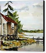 The Old Bait Store Canvas Print