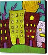 The Old Neighborhood Canvas Print by Wayne Potrafka