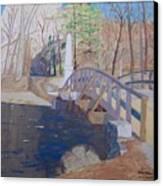 The Old North Bridge In Concord Ma Canvas Print by William Demboski