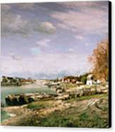 The Old Quay At Bercy Canvas Print