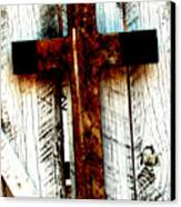 The Old Rusted Cross Canvas Print