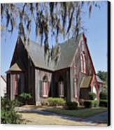 The Old Wooden Church Canvas Print