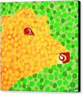 The Orange Cow Canvas Print