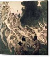 The Oreads Canvas Print by William-Adolphe Bouguereau