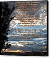 The Original Serenity Prayer Canvas Print by Glenn McCarthy Art and Photography