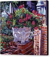 The Ornamental Floral Gate Canvas Print