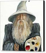 The Painting Wizard Canvas Print