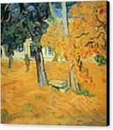 The Park At Saint Pauls Hospital Saint Remy Canvas Print by Vincent van Gogh