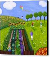 The Park Number 1 Of 3 Canvas Print by Barbara Esposito