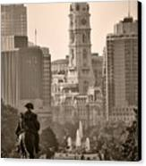 The Parkway In Sepia Canvas Print by Bill Cannon