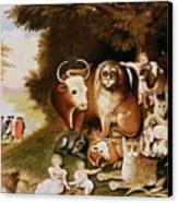 The Peaceable Kingdom Canvas Print by Edward Hicks