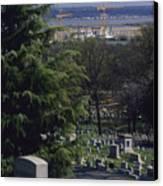 The Pentagon Looms Behind  Arlington Canvas Print