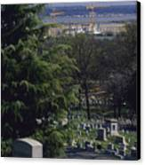 The Pentagon Looms Behind  Arlington Canvas Print by Raymond Gehman