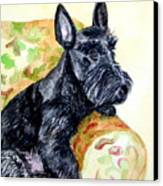 The Perfect Guest - Scottish Terrier Canvas Print