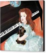 The Pianist And Her Pekinese Canvas Print
