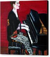 The Pianist Canvas Print by Pilar  Martinez-Byrne