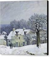The Place Du Chenil At Marly Le Roi Canvas Print by Alfred Sisley