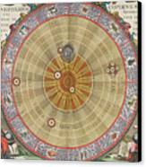 The Planisphere Of Copernicus Harmonia Canvas Print