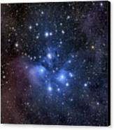 The Pleiades, Also Known As The Seven Canvas Print by Roth Ritter