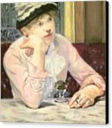 The Plum Canvas Print by Edouard Manet