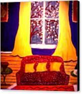 The Polka Dot Sofa Canvas Print