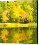 The Pond At Alpine Canvas Print