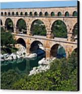 The Pont Du Gard Canvas Print