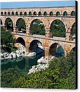 The Pont Du Gard Canvas Print by Sami Sarkis