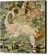 The Pool Canvas Print by Edward Atkinson Hornel