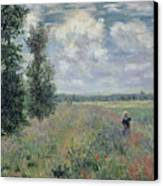 The Poppy Field Canvas Print by Claude Monet