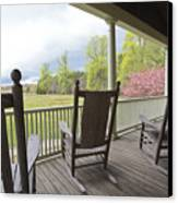 The Porch  Canvas Print by Steve Gravano