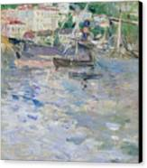 The Port At Nice Canvas Print by Berthe Morisot