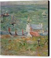 The Port Of Gorey On Jersey Canvas Print by Berthe Morisot