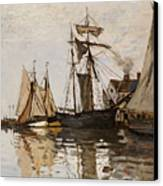 The Port Of Honfleur Canvas Print by Claude Monet