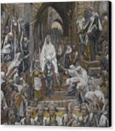 The Procession In The Streets Of Jerusalem Canvas Print by Tissot