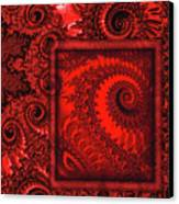The Proper Victorian In Red  Canvas Print