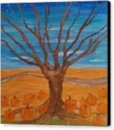 The Pumpkin Tree Canvas Print by Dawn Vagts