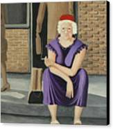 The Purple Dress Canvas Print