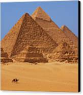 The Pyramids In Egypt Canvas Print by Dan Breckwoldt